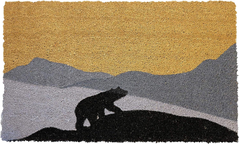 """LL Home Coir Bear, Moving UP Door Mat, 30""""X18"""""""