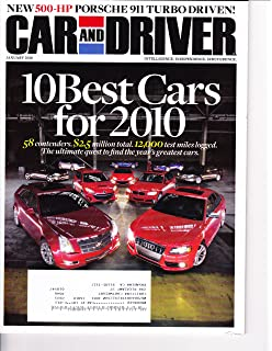 CAR & DRIVER, JANUARY 2010 - 10 Best Cars for 2010, 500 HP 911