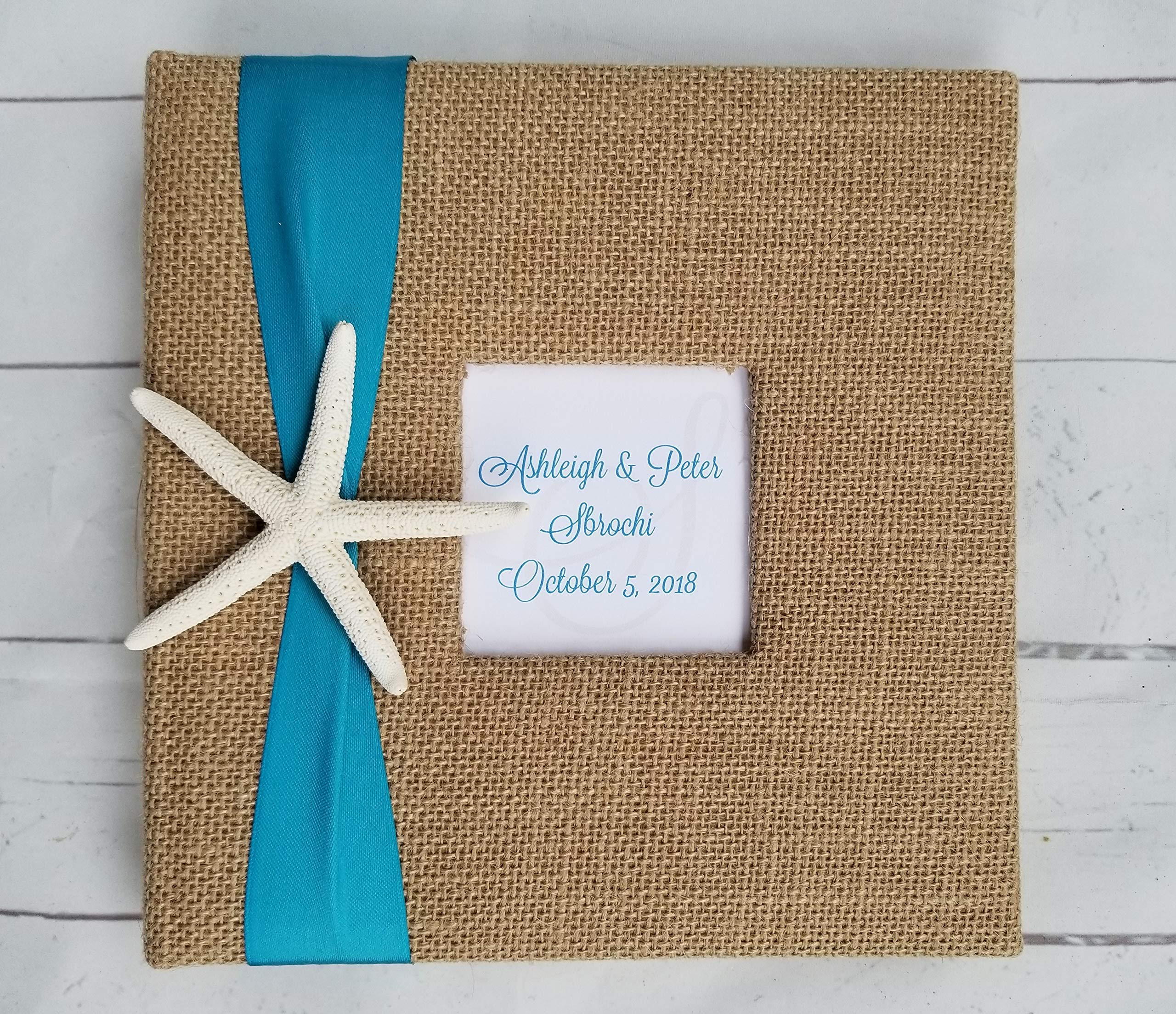 Starfish Photo Album - Your choice of ribbon color- Holds 160 4x6'' photos by Beach & Beyond