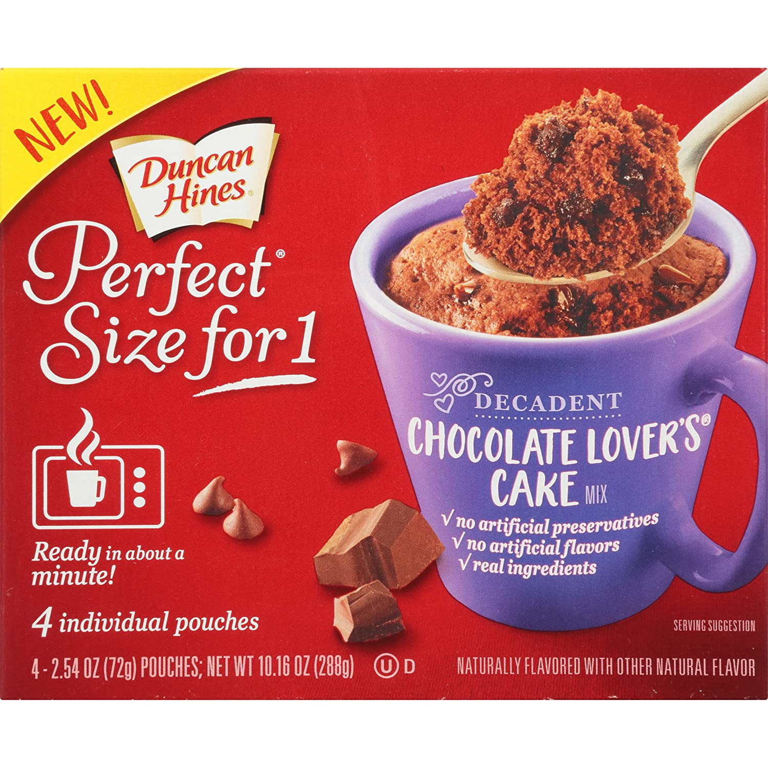 Amazon Duncan Hines Perfect Size for 1 Mug Cake Mix Ready in