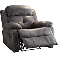 Acme Furniture Ashe Microfiber Recliner (Gray)