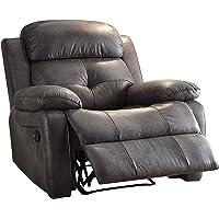 Acme Furniture Ashe Microfiber Recliner (Gray)