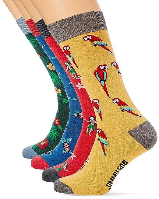 Jimmy Lion Pack de 4 Tortugas, Calcetines para Hombre, Multicolor, 41-46: Amazon.es: Ropa y accesorios