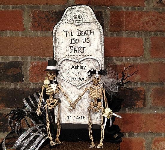Amazon Com Skull Wedding Cake Topper Gothic Wedding Goth