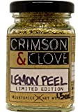 Granulated Dried Lemon Peel By Crimson and Clove (1.7 Oz.)