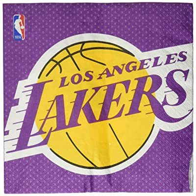 "Los Angeles Lakers NBA Collection"" Luncheon Napkins: Toys & Games,"