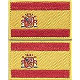 Envio 24h 2 Parches Velcro x España Bandera Táctico bandera con velcro podría ser pegado a la ropa, chaleco, gorra, mochila Directamente 2052