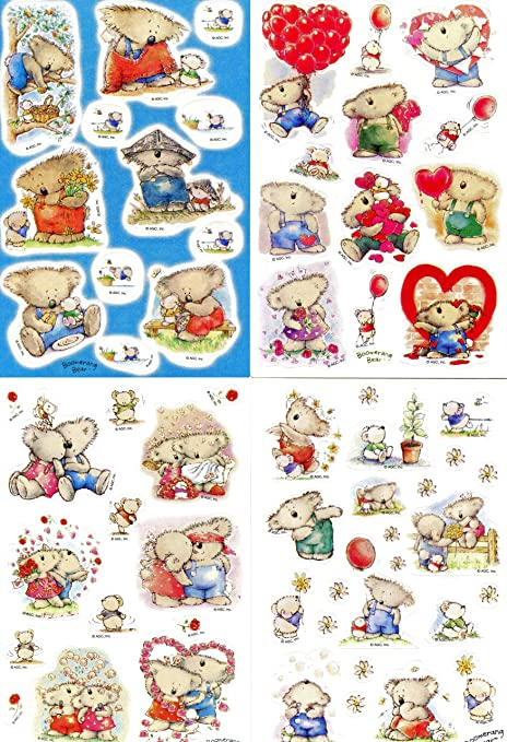 Amazon stickety doo da boomerang bear variety pack stickers 10 stickety doo da boomerang bear variety pack stickers 10 sheets acid free m4hsunfo