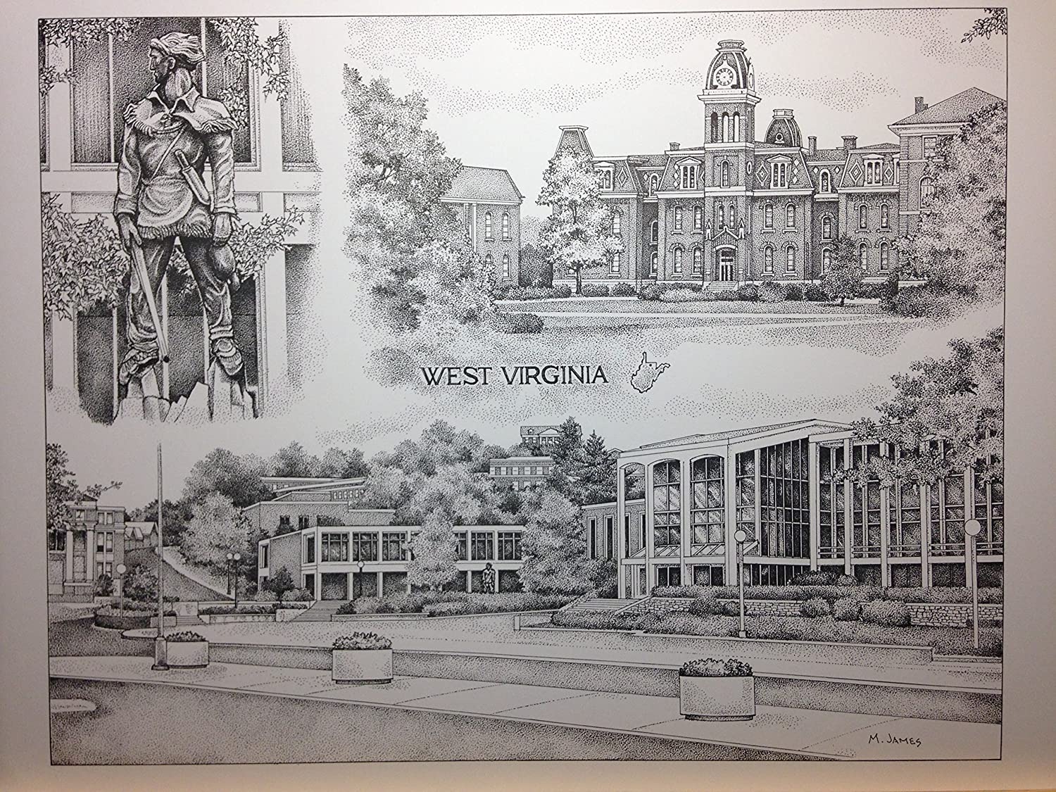 West Virginia University 12x16 collage print