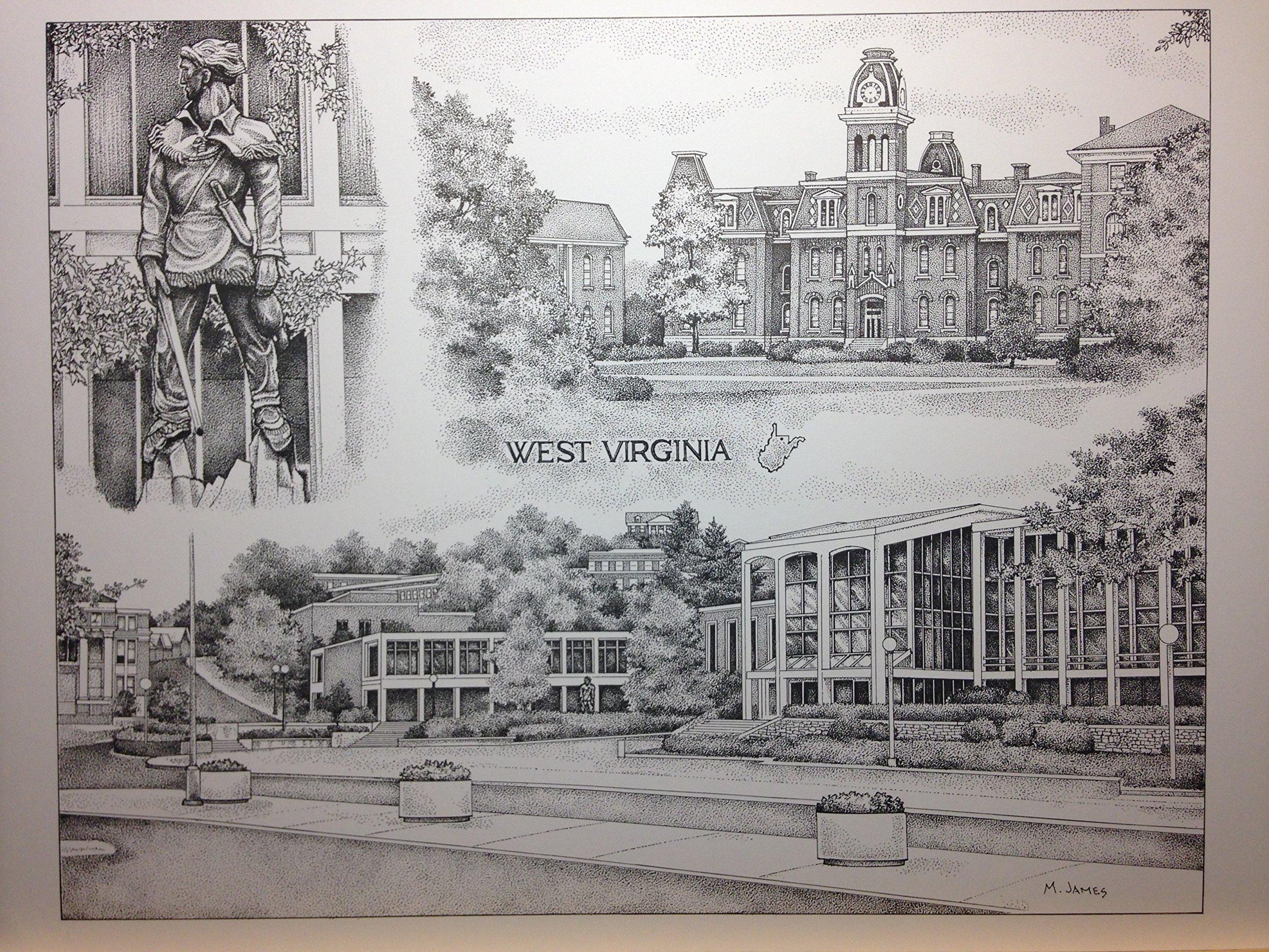 West Virginia University 12x16 collage print