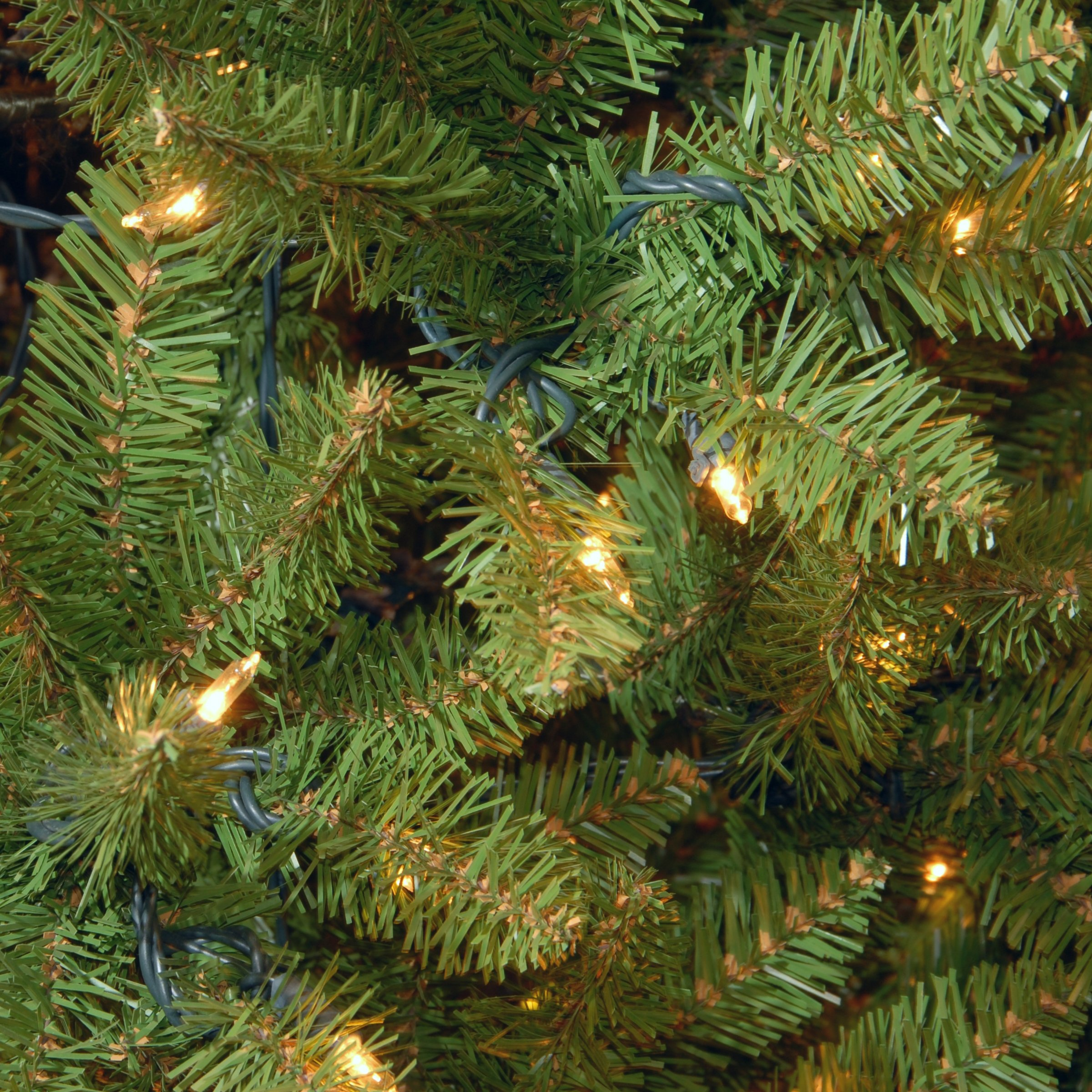 National Tree 6.5 Foot Kingswood Fir Pencil Tree with 250 Clear Lights, Hinged (KW7-300-65) by National Tree Company (Image #2)