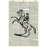 Horse Art Print - Equestrian Art Print - Vintage Art Print - Vintage Dictionary Art Print - Black & White - BOOK ART PRINT - WALL ART - Illustration - Picture - Wall Hanging - ARTWORK 729D