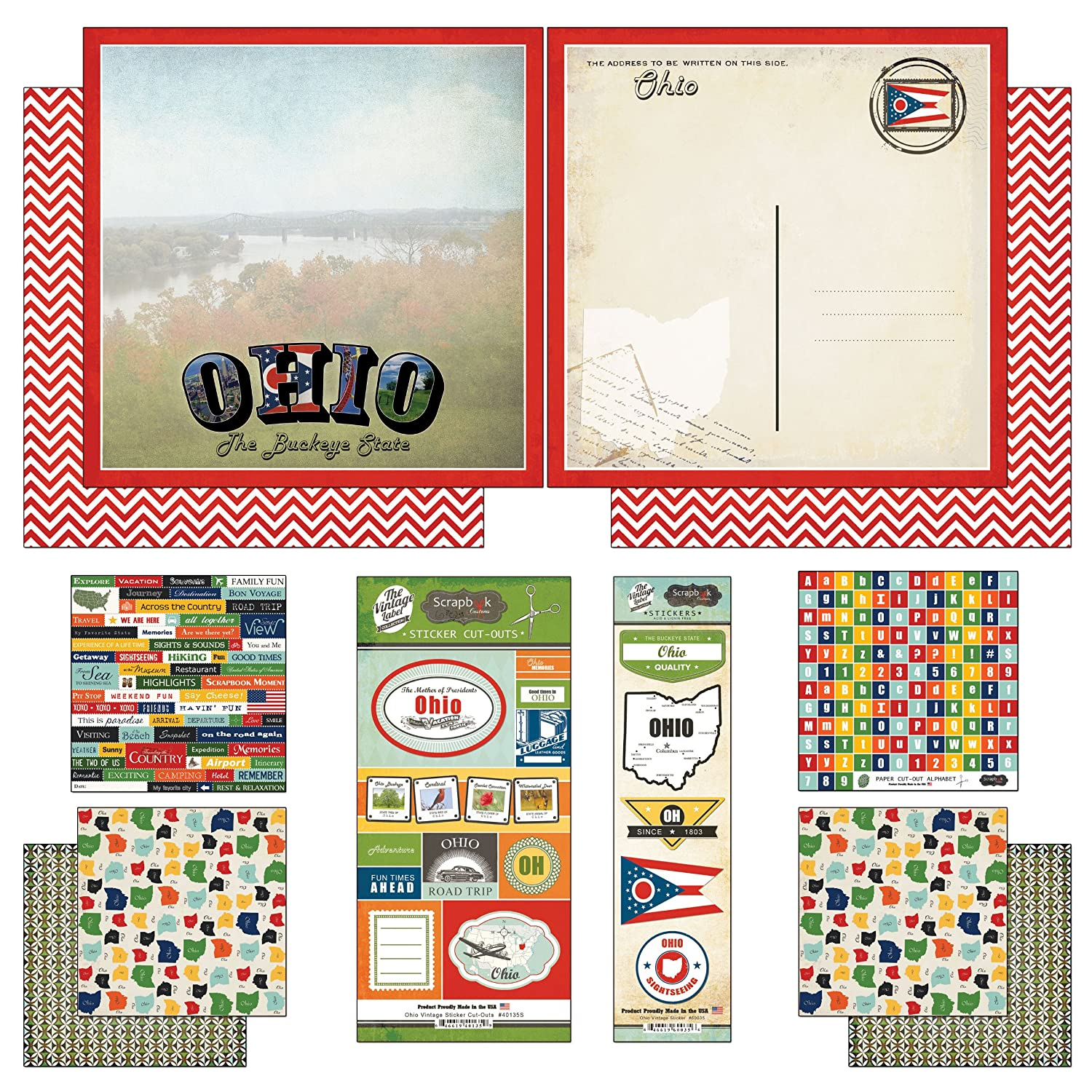 Amazon scrapbook customs themed paper and stickers scrapbook amazon scrapbook customs themed paper and stickers scrapbook kit ohio vintage buycottarizona