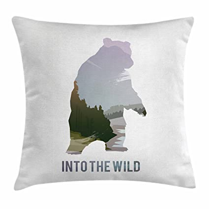 Amazon Ambesonne Cabin Decor Throw Pillow Cushion Cover By Interesting Cabin Decor Throw Pillows