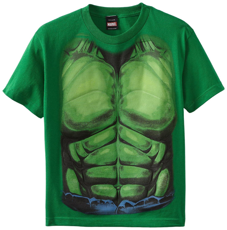 Amazon.com: The Incredible Hulk Smash Costume Torso Youth T-Shirt ...