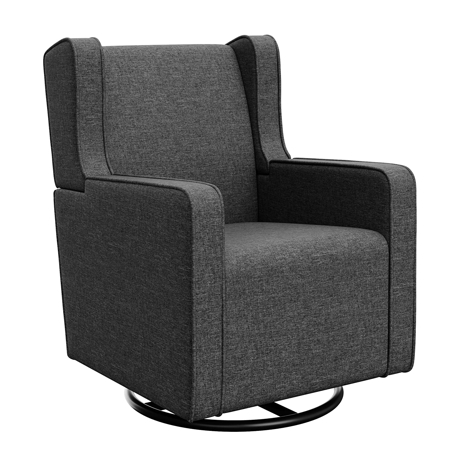 Graco Remi Upholstered Swivel Glider, Night Sky, Cleanable Upholstered Comfort Rocking Nursery Swivel Chair