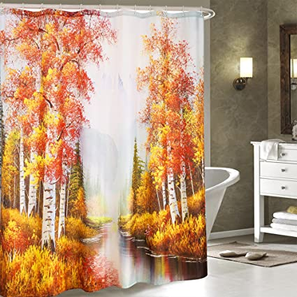 Image Unavailable Not Available For Color Globalhomefashion Print Shower Curtain
