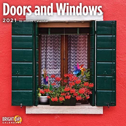 Windows Calendar 2021 Amazon.com: 2021 Doors and Windows Wall Calendar by Bright Day, 12