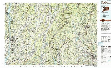 Amazon.com : YellowMaps Waterbury CT topo map, 1:100000 Scale, 30 X ...