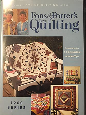 Amazon Fons And Porter Love Of Quilting 1200 Series Ann Lauer