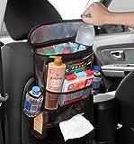 Cornucopia Brands Back Seat Organizer for Uber/Lyft Taxi Drivers; Multi-Pocket Automobile Organizer for Uber & Lyft Drivers or Personal Cars
