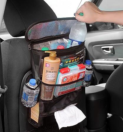Cornucopia Brands Back Seat Organizer For Uber Lyft Taxi Drivers Multi Pocket Automobile