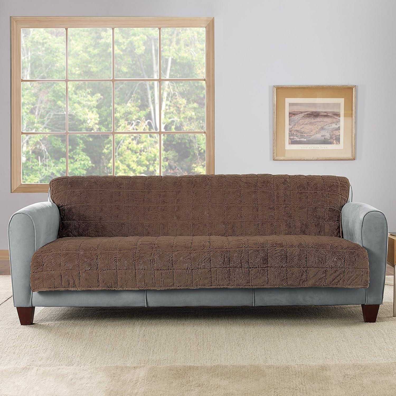 Amazon Sure Fit Faux Fur Throw Armless Sofa Slipcover
