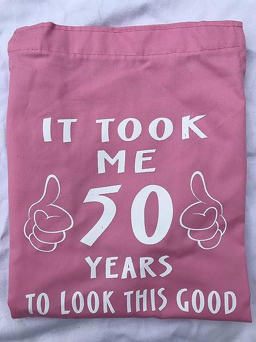 FitKit It Took Me - Delantal (50 años), diseño con Texto en inglés ...