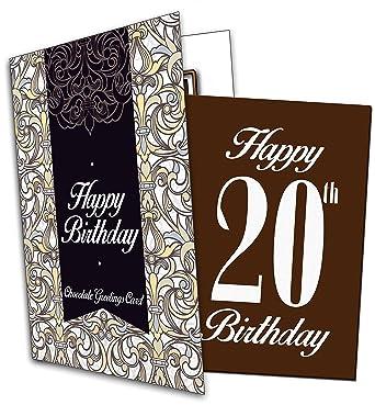 Happy 20th Birthday Chocolate Greeting Card Amazon Grocery
