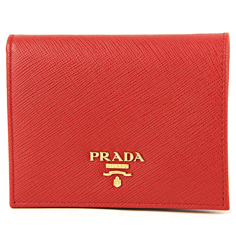 プラダ(PRADA) 2つ折り財布 1MV204 QWA F068Z サフィアーノ メタル レッド 赤 [並行輸入品] B07545HM1B
