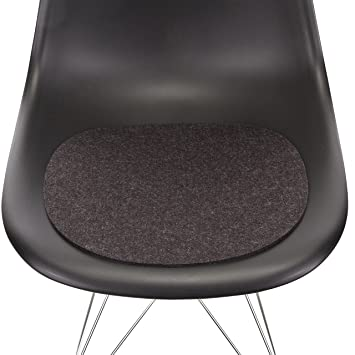 Hey Sign Sitzauflage Eames Sidechair Antirutsch, Graphit Grau Filz