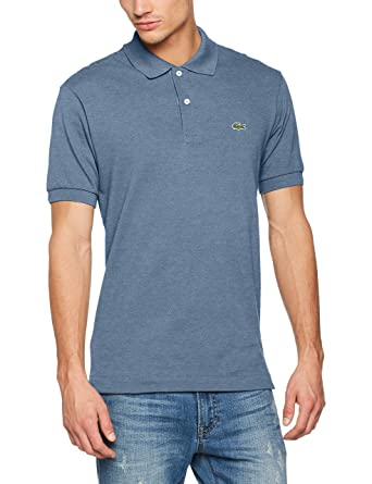 Lacoste L1264-00 - Polo - Col Polo - Manches Courtes - Homme - Bleu (Philippines Chine) - X-Large (Taille Fabricant:6) kIYNZ