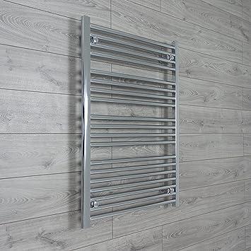 700 mm cromado toallero radiador plano/escalera recta para baño con estilo, acero, 700 x 1000 mm: Amazon.es: Hogar