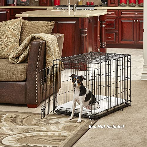 MidWest Homes for Pets Dog Crate iCrate Single Door Double Door Folding Metal Dog Crates Fully Equipped
