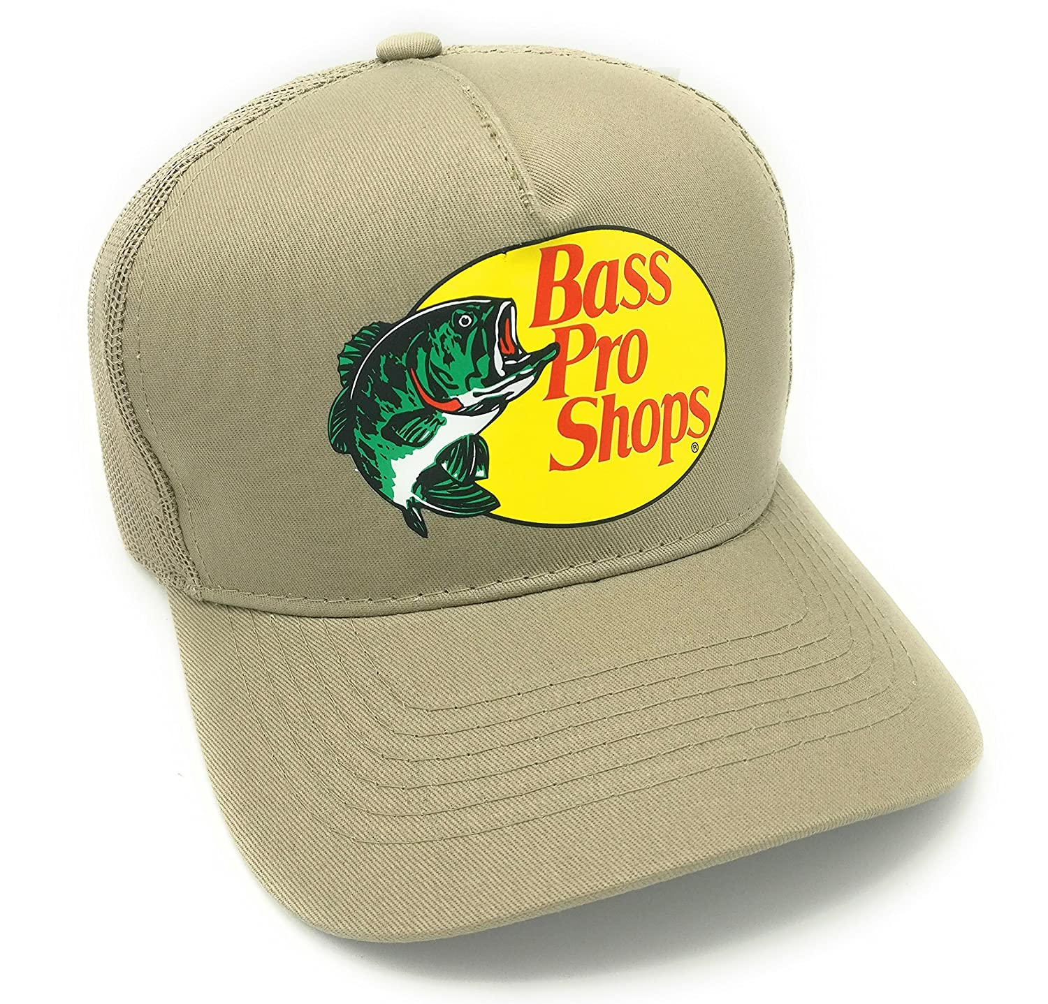 bc27f8ae4 Authentic Bass Pro Mesh Cap Fishing Hat Adjustable, One Size Fits Most,  Cool and comfortable design, Mesh backing, Wide brim