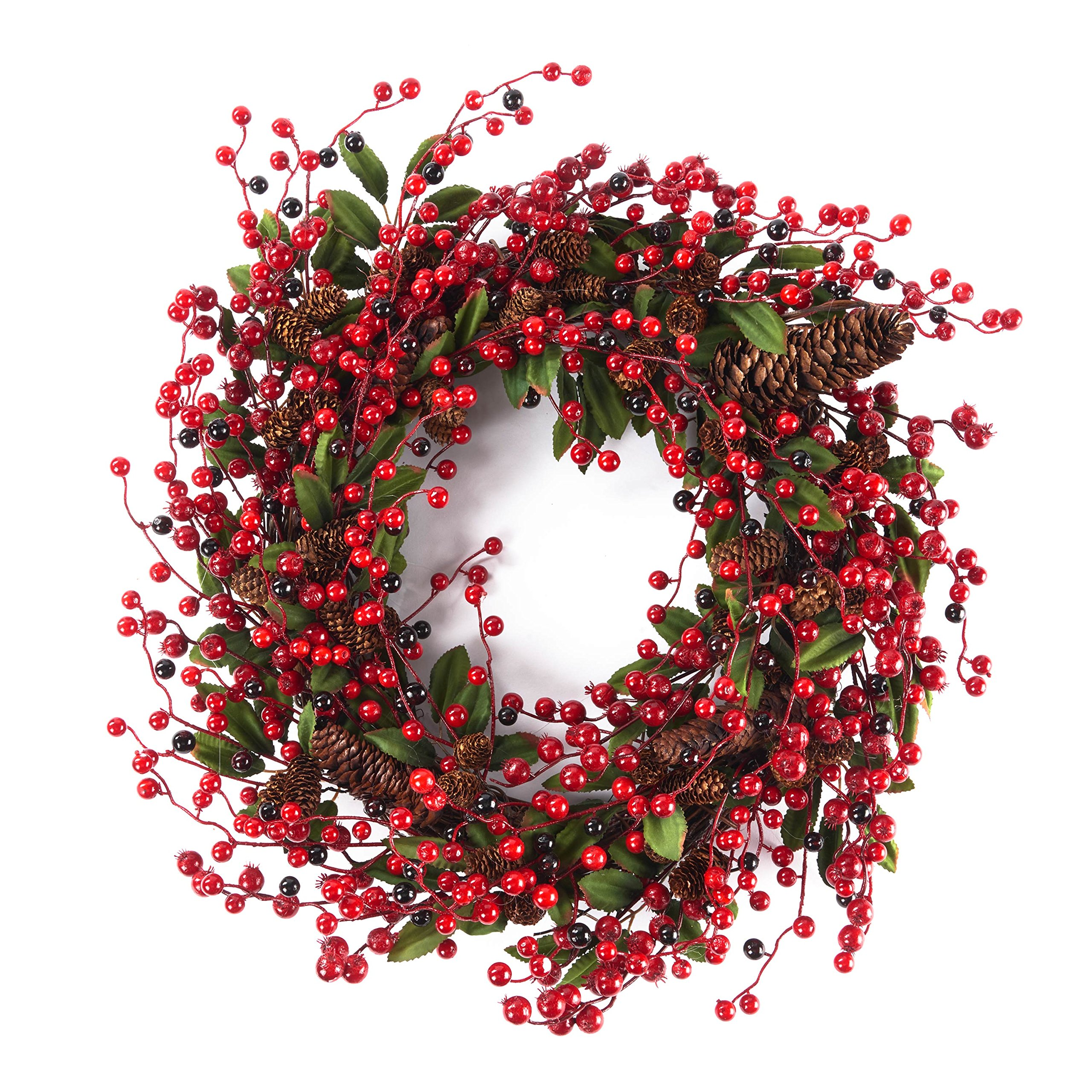 Door Wreath 24inches for All seasons (Berry)