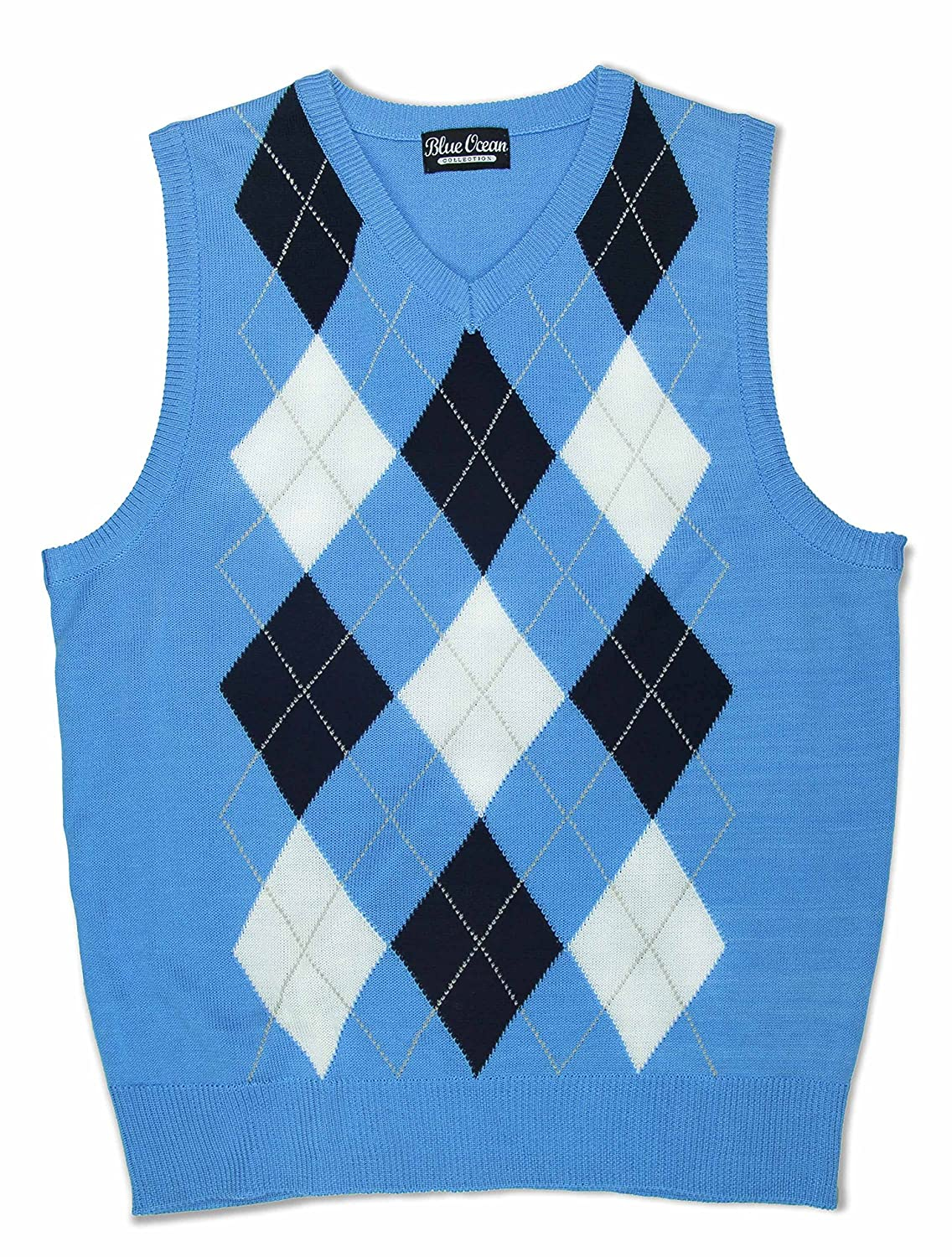 Amazon.com: Blue Ocean Kids Argyle Sweater Vest: Clothing