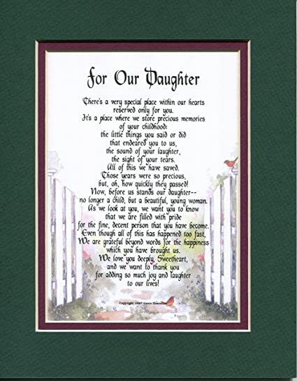 a sentimental christmas birthday graduation gift present for a daughter 50