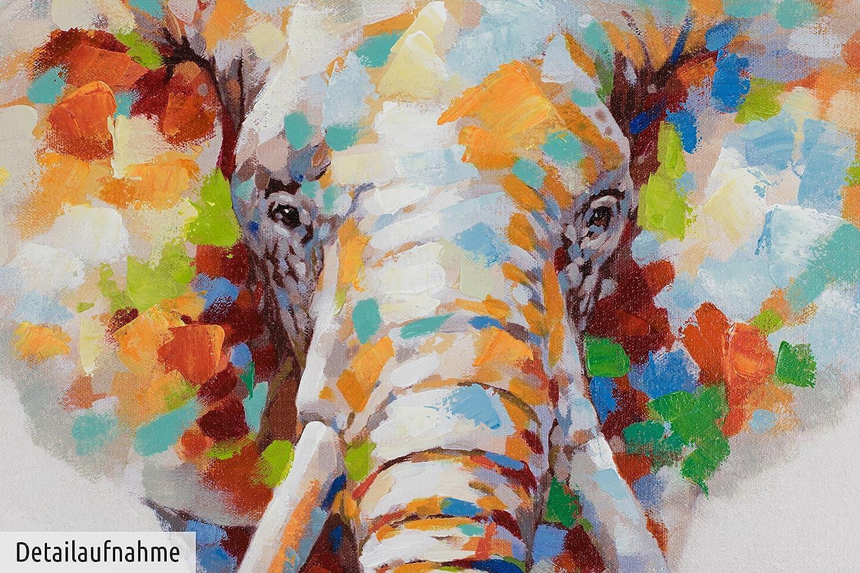 KunstLoft® Acryl Gemälde \'Sanftmütiger Elefant\' 80x80cm | original ...