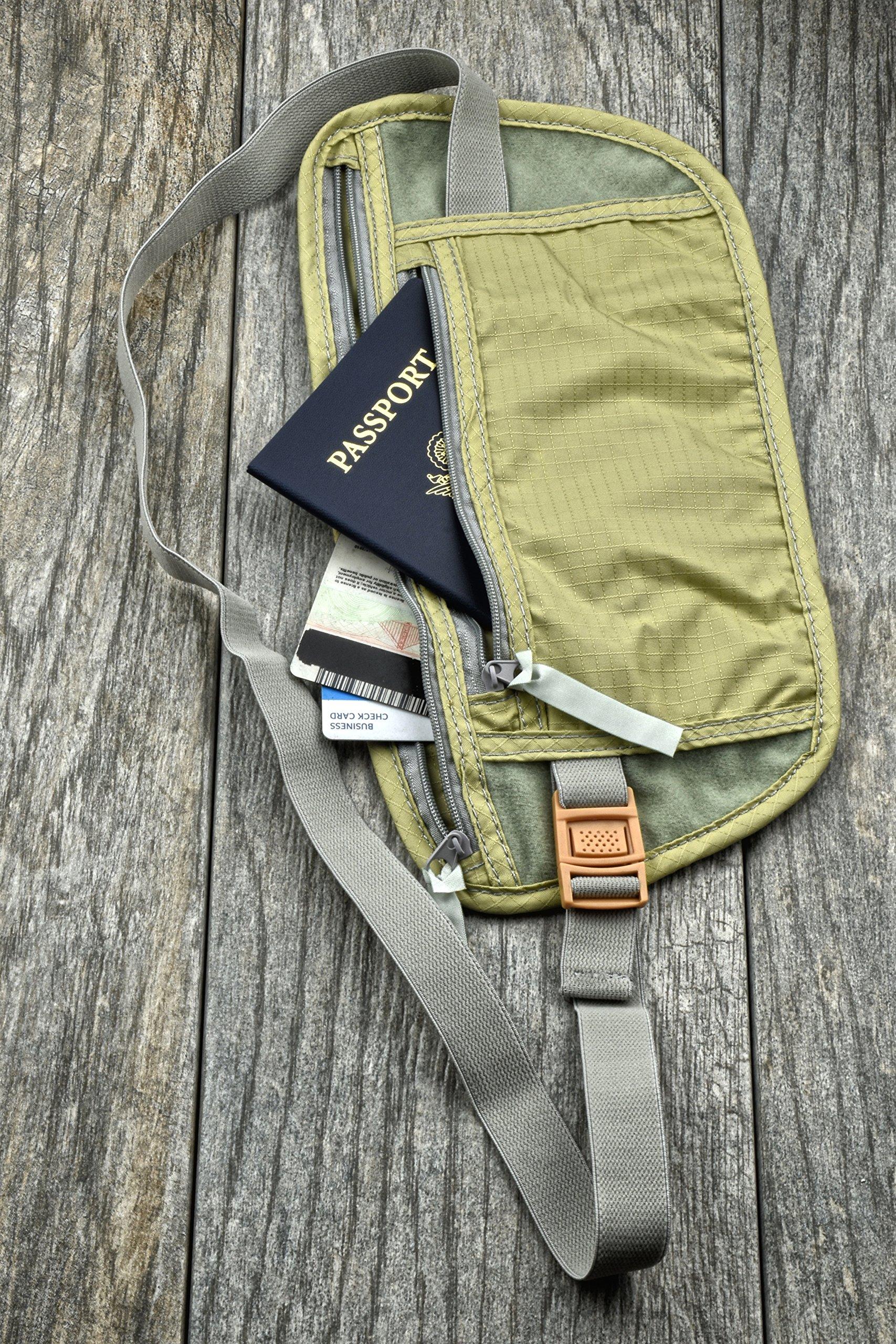 SE TP101-POUCH Concealed Dual Zipper Travel Pouch by SE (Image #2)