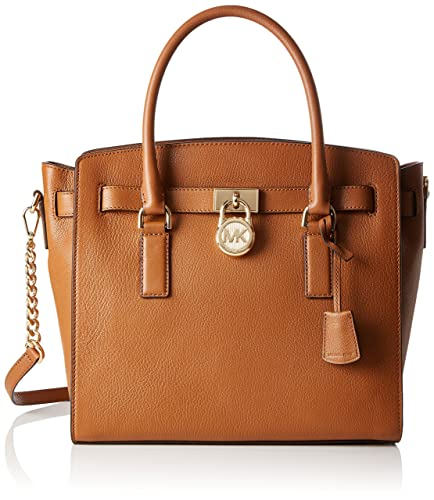 e833df233afb Michael Kors 30S7GHMS7L Womens Hamilton Satchel Brown (Acorn ...