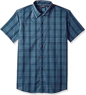 67ca11a78 Van Heusen Men's Slim Fit Flex Short Sleeve Button Down Windowpane Shirt