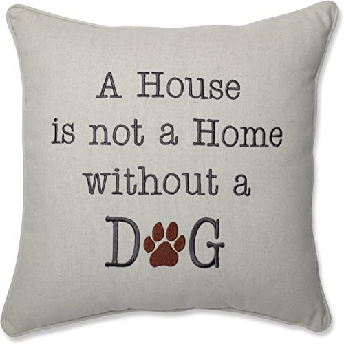 Pillow Perfect 605319 House is Not A Home Natural 16.5-inch Throw Pillow