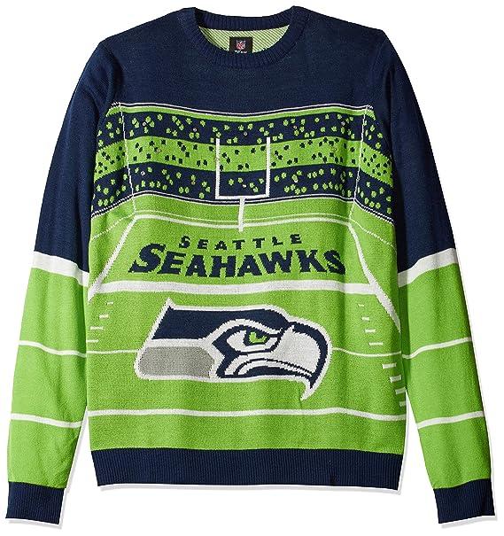 size 40 0fa95 688e6 FOCO NFL Mens Stadium Light Up Crew Neck Sweater
