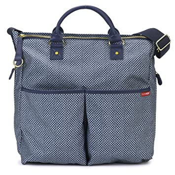 19a90ac78f5 Amazon.com   Skip Hop Duo Signature Carry All Travel Diaper Bag Tote with  Multipockets