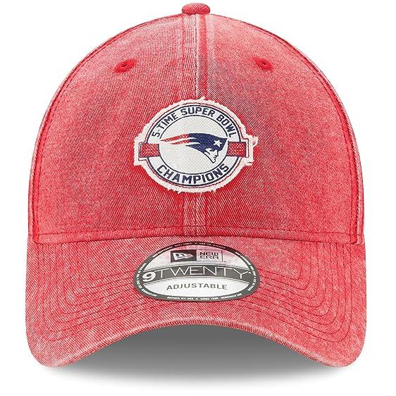 ... wholesale new era new england patriots red 5 time super bowl champions  washed 9twenty adjustable hat d70579450
