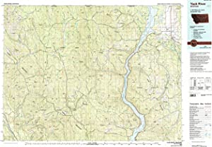 YellowMaps Yaak River MT topo map, 1:100000 Scale, 30 X 60 Minute, Historical, 1979, Updated 1993, 24.1 x 35.1 in