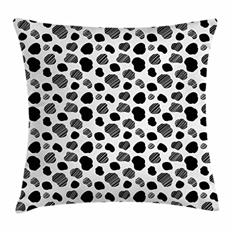 099fc6ad2ca Amazon.com  Ambesonne Cow Print Throw Pillow Cushion Cover
