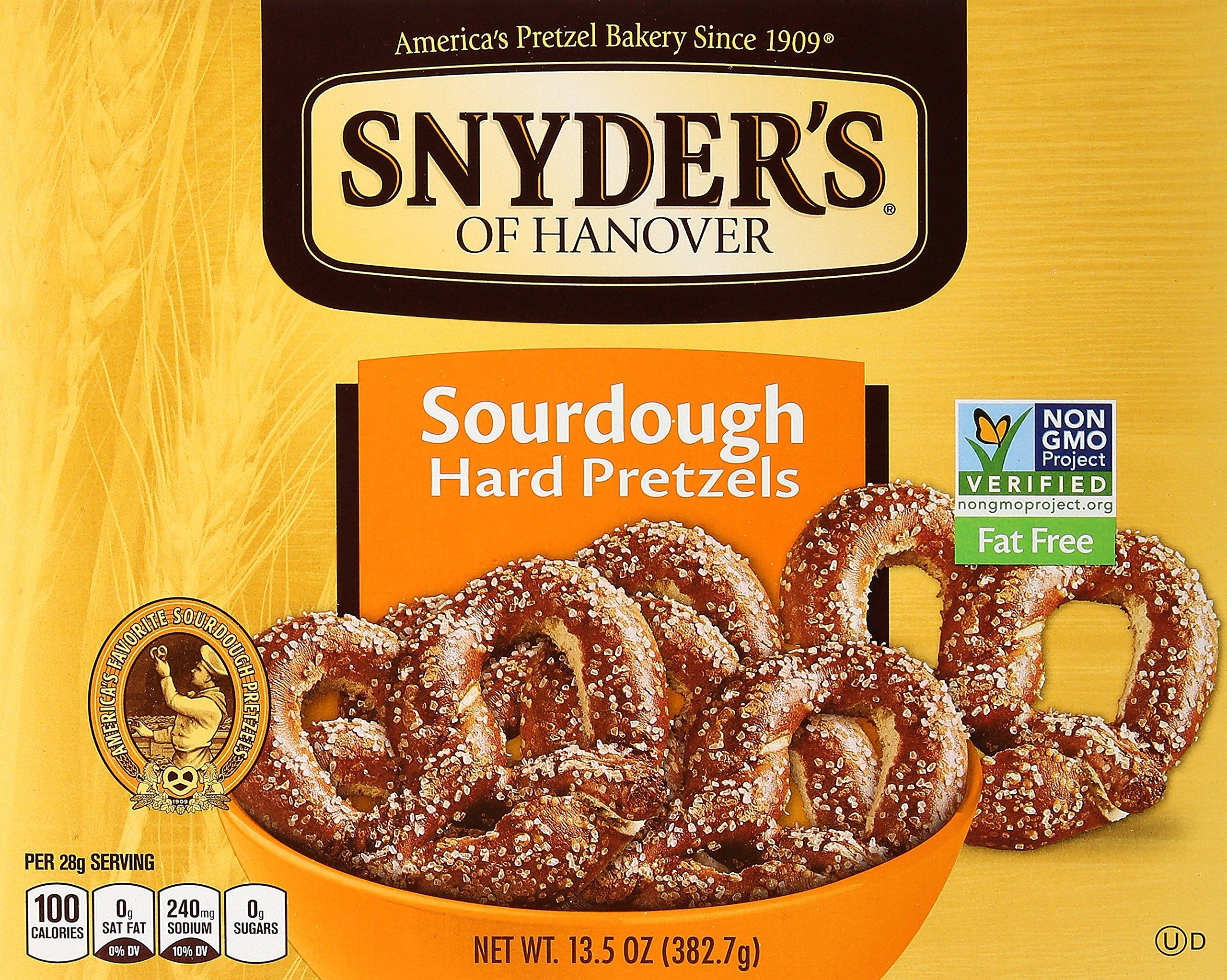 Snyder's of Hanover Hard Pretzel Box, Sourdough, 13.5 Oz