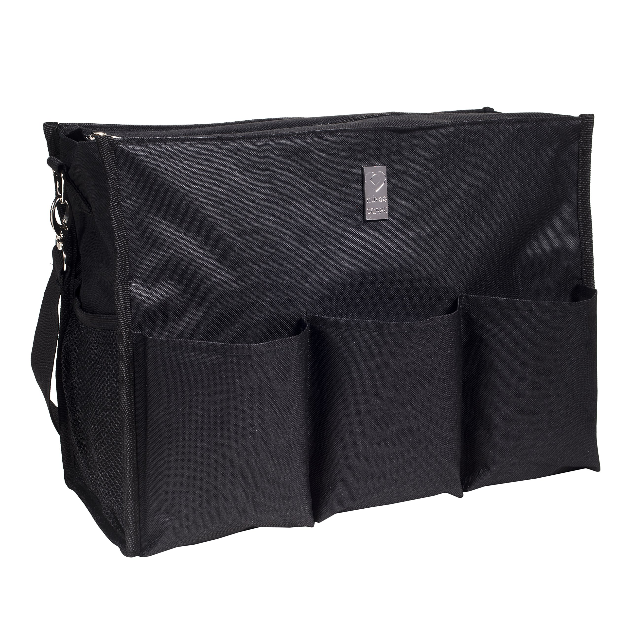 Wheelchair Bag for Back of Chair w/ 5 Exterior & 5 Interior Pockets - Perfect Carrier Bag for Newspaper, Medical Paperwork, Blanket & More for Most Electric, Manual or Power Wheelchairs (Black)